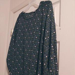 Loft Blouse, long sleeve size 24